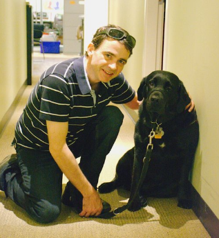 Robert Gill and his guide dog
