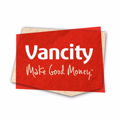 Vancity Logo. Slogan: Make Good Money