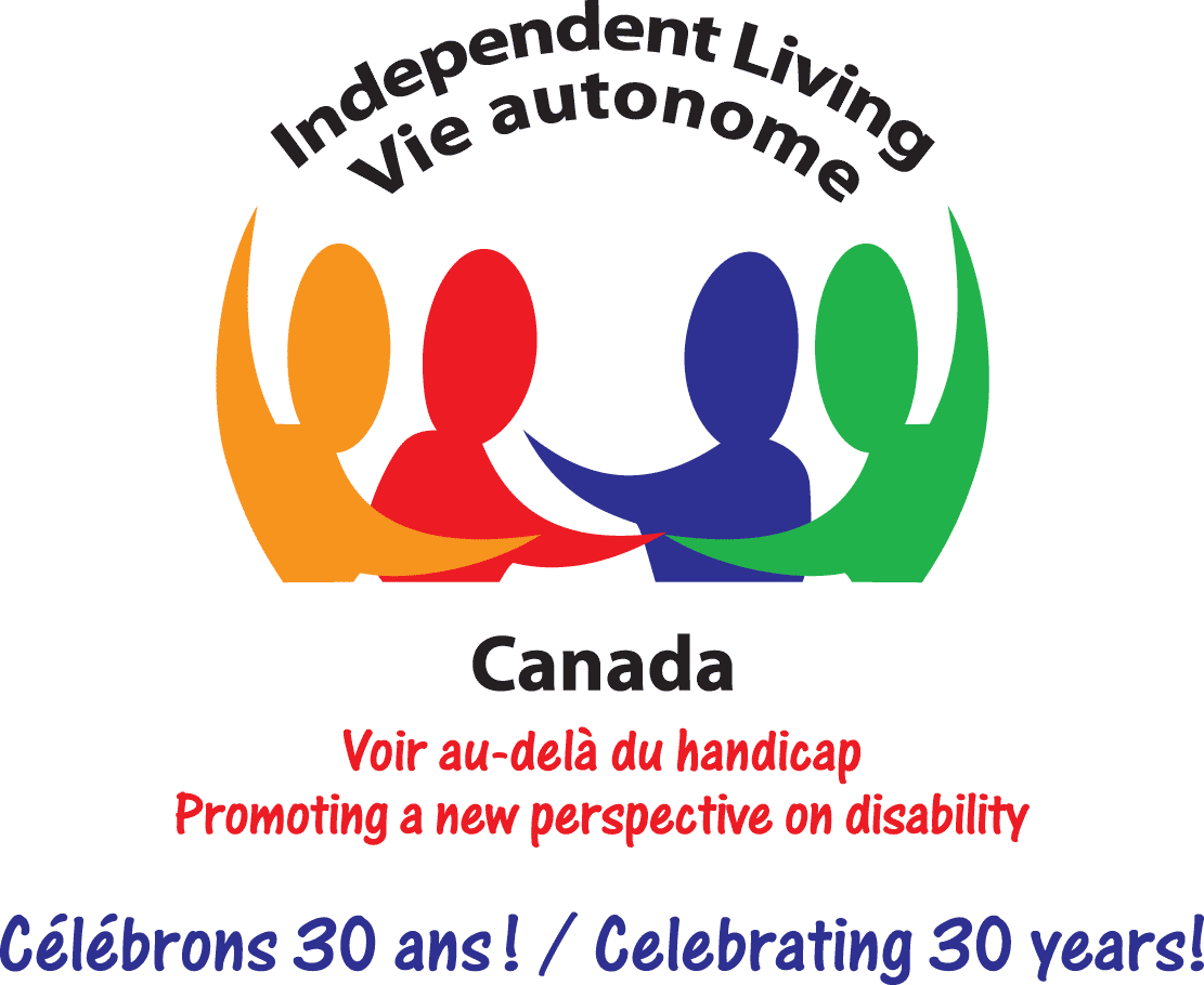 Independent Living Canada logo showing four silhouette figures interacting.
