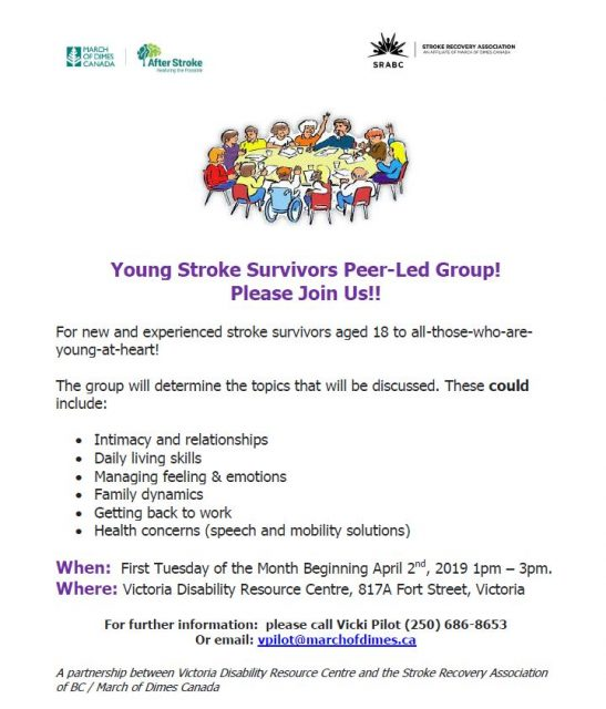 Young Stroke Survivors Group poster