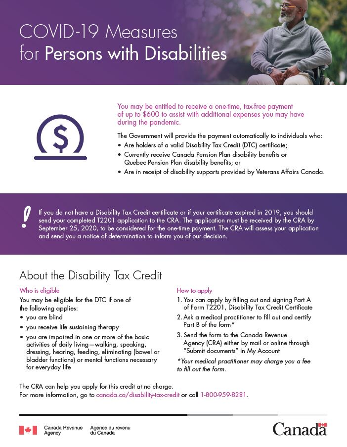 Fact sheet about the DTC one-time payment